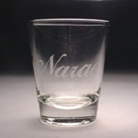 2 oz. personalized shot glass, custom shot glass with logo, names or initals,engraved shot glass