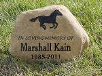 Horse grave marker and memorial stones