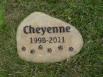 Text and Paws Memorial Stones